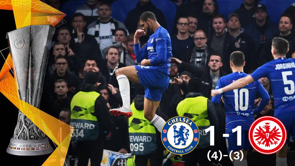 El Chelsea pasa por penaltis y estará en la final de la Europa League. (AFP)