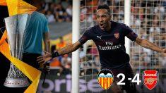 El Arsenal gana al Valencia. (EFE)