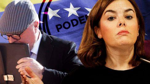 El comisario José Villarejo y la ex presidenta del Gobierno Soraya Sáenz de Santamaría.
