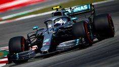 Valtteri Bottas, durante una vuelta en el Gran Premio de España. (EFE)