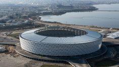 El estadio de Bakú es uno de los más grande de Europa.