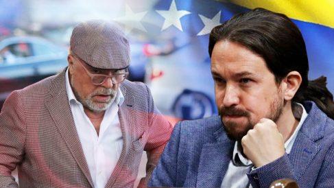 El ex comisario José Villarejo y el líder de Podemos, Pablo Iglesias.