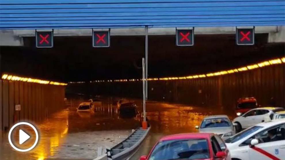 Túnel de la M-13 cercano al aeropuerto de Barajas (Foto: EP)