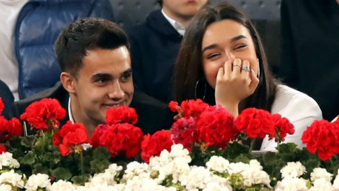 Sergio Reguilón y Marta Díaz en el Mutua Open Madrid. (EFE)