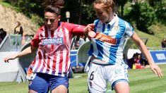 Un lance del Atlético de Madrid – Real Sociedad de Liga Iberdrola. (EFE)