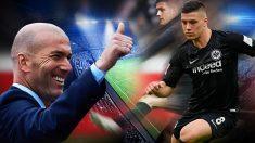 Jovic enamoró a Zidane en la semifinales de la Europa League contra el Chelsea.
