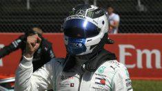 Bottas se llevó la pole en el GP de España. (AFP)