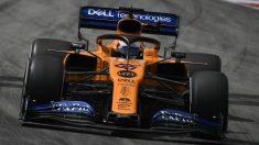Carlos Sainz durante la clasificación del GP de España. (AFP)