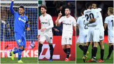 Getafe, Sevilla y Valencia pelean por entrar en Champions.