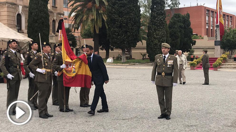 Ignacio Garriga jura bandera en Barcelona