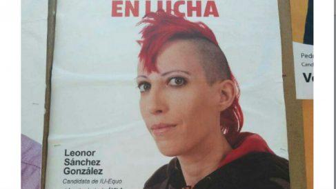 La candidata punky de IU-Equo al Ayuntamiento de Ávila, Leonor Sánchez González.