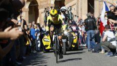 Roglic se llevó la primera etapa del Giro de Italia. (AFP)