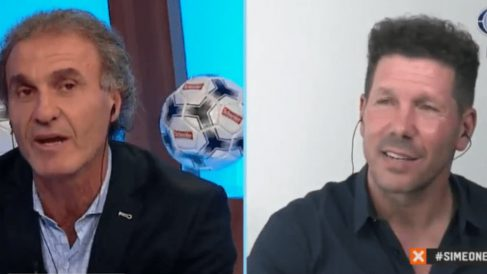 Oscar Ruggeri y Diego Pablo Simeone (Fox Sports)