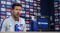 Diego Pablo Simeone en rueda de prensa (AFP)