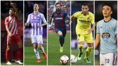 Girona, Valladolid, Levante, Villarreal y Celta de Vigo se juegan en las dos útlimas jornadas de LaLiga su permanencia en Primera División. (Getty)