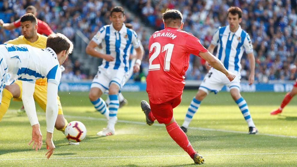 Brahim marca un golazo con el Real Madrid.