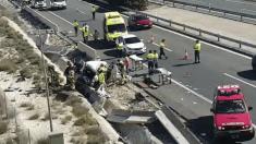 Accidente en la autovía de Murcia. Foto. EFE.
