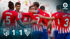 El Atlético certificó la segunda plaza tras vencer empatar contra el Sevilla.