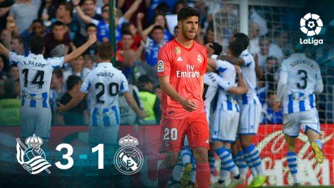 El Real Madrid cayó 3-1 ante la Real Sociedad.