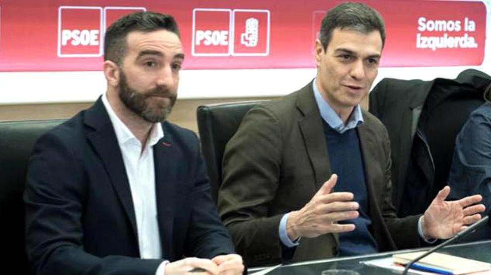 El secretario de Estado para el Avance Digital, Francisco Polo, junto al presidente Pedro Sánchez.
