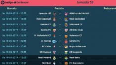Estos son los horarios de la última jornada de Liga.