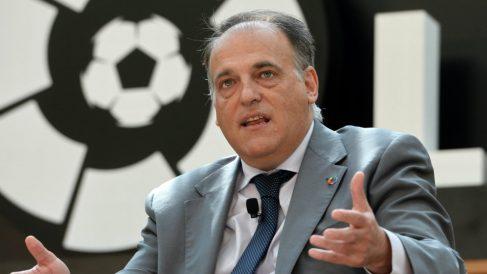 El presidente de LaLiga, Javier Tebas. (AFP)