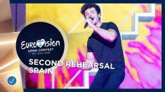 Miki en el segundo ensayo de 'Eurovisión 2019'