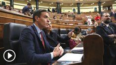 El presidente del Gobierno en funciones, Pedro Sánchez, en su escaño durante la pasada legislatura (Foto: Europa Press)