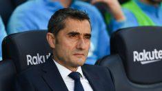 Valverde, durante el último encuentro del curso en el Camp Nou, ante el Getafe (Getty)., a