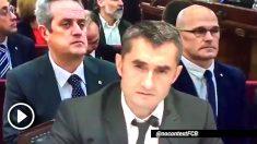 Ernesto Valverde en el vídeo compartido por @nocontextFCB.