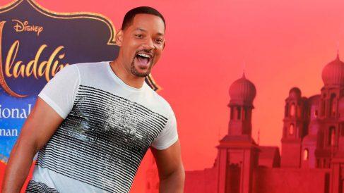 El actor Will Smith durante la presentación en Londres de 'Aladdin', la última adaptación de un clásico de disney a acción real. Foto: AFP