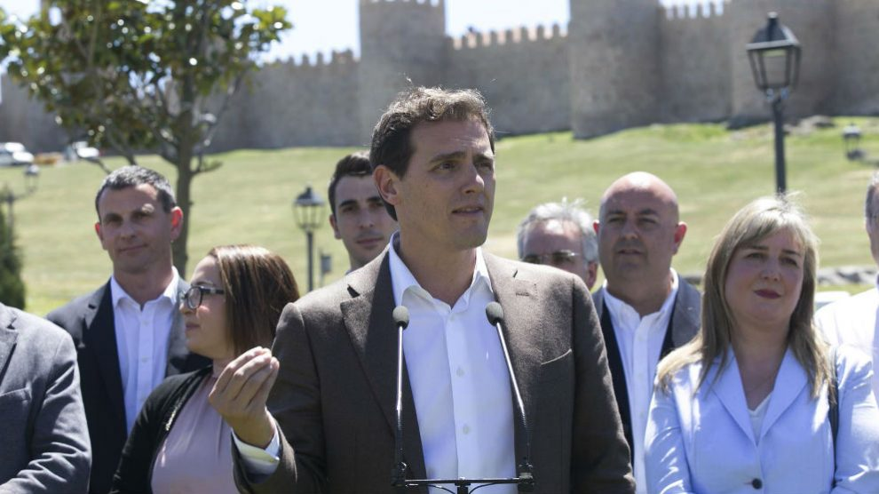 Albert Rivera, este martes en Ávila