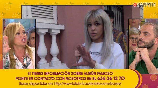 'Sálvame': Belén Esteban se enfrenta a Antonio Tejado por su amiga Ylenia Padilla