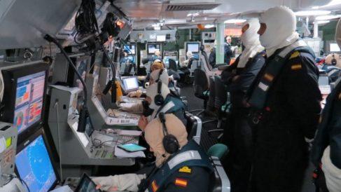 Sala de control de la fragata 'Méndez Núñez'.