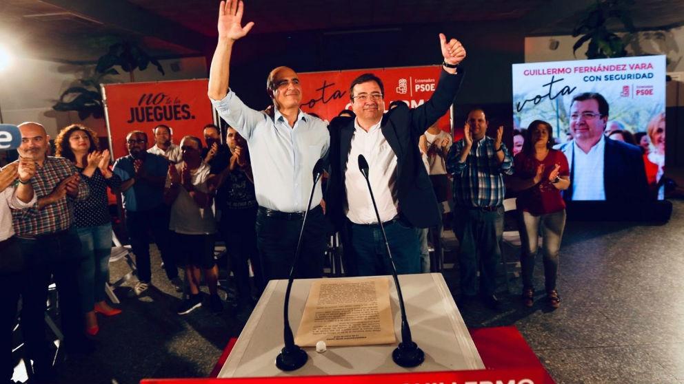 Guillermo Fernández Vara en una acto electoral en Zafra. Foto: Europa Press