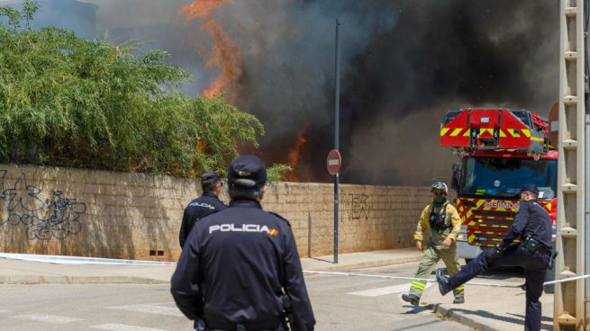 Incendio de un edificio en Ibiza