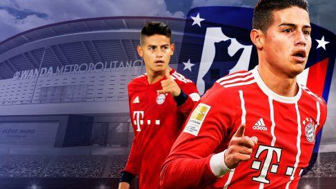 El Atlético sigue pensando en James Rodríguez.
