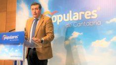 El portavoz del PP de Cantabria, Íñigo Fernández. Foto: EP