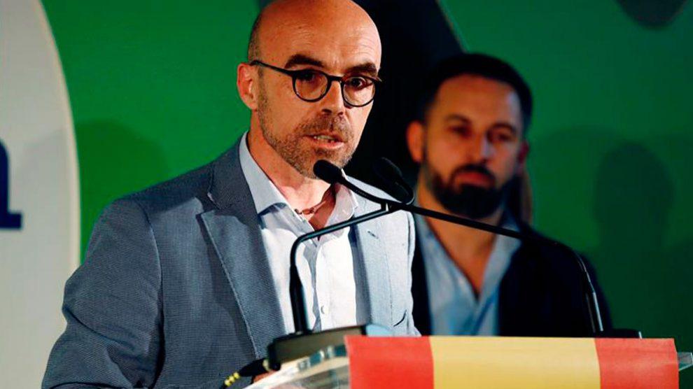 Jorge Buxadé, cabeza de lista de Vox para las elecciones europeas del próximo 26 de mayo. Foto: EFE