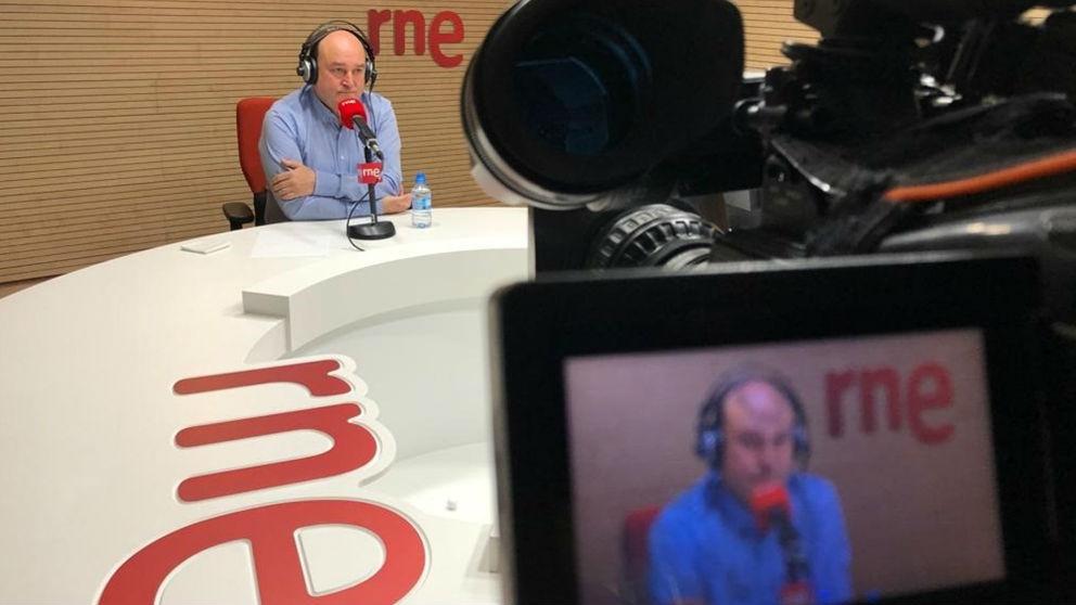 Andoni Ortúzar en una entrevista en RNE. Foto: Europa Press
