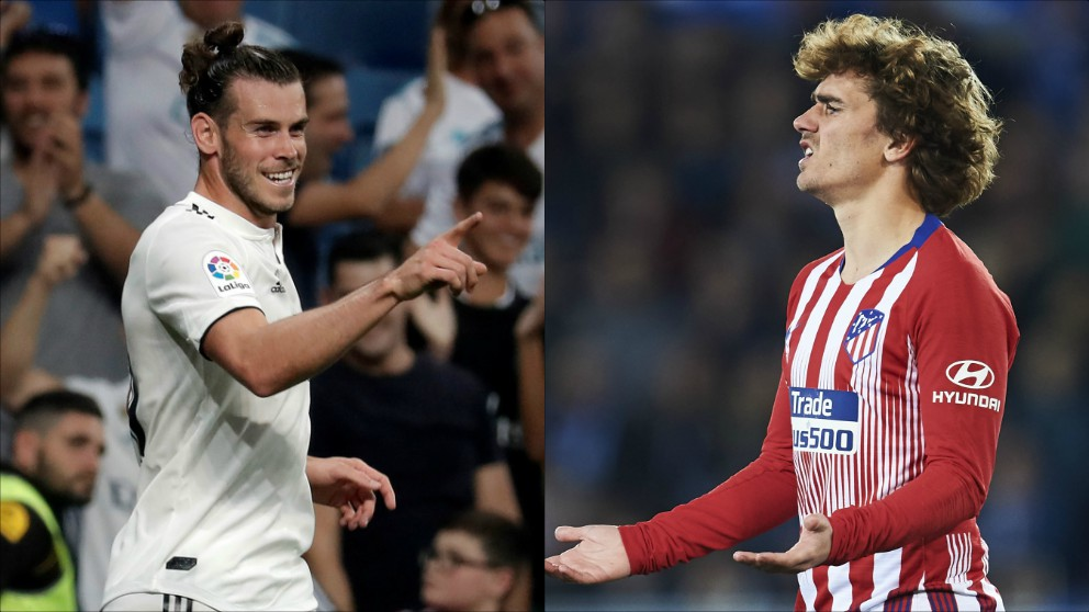 Bale retrata a Griezmann. (Getty)