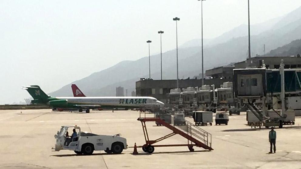 Aeropuerto Simón Bolívar en Maiquetía, en Venezuela (Foto: AFP)