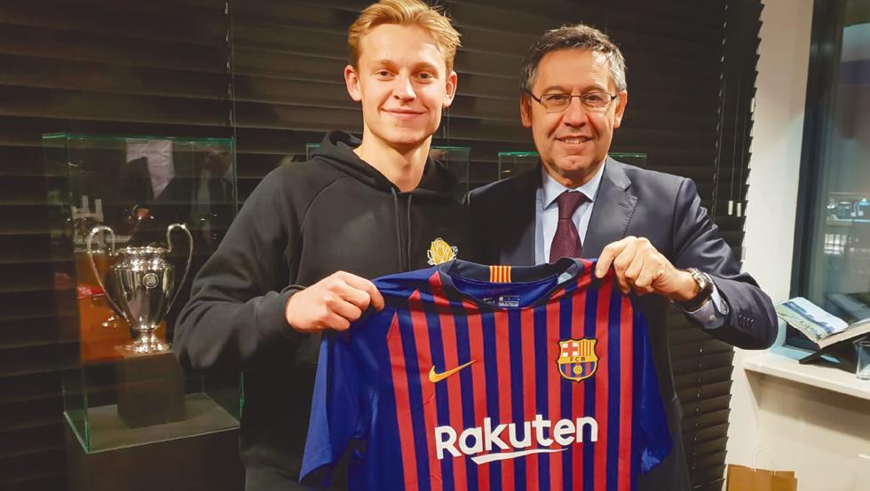 De Jong, el último jugador en llegar al Barcelona. Griezmann podría ser el siguiente. (FcBarcelona)