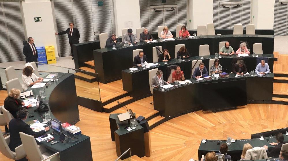 Manuela Carmena en el último Pleno municipal. (Foto. Madrid)