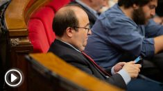 Miquel Iceta en el Parlament. Foto: Europa Press
