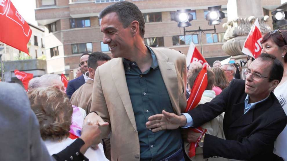 Pedro Sánchez en Pamplona. Foto: Europa Press