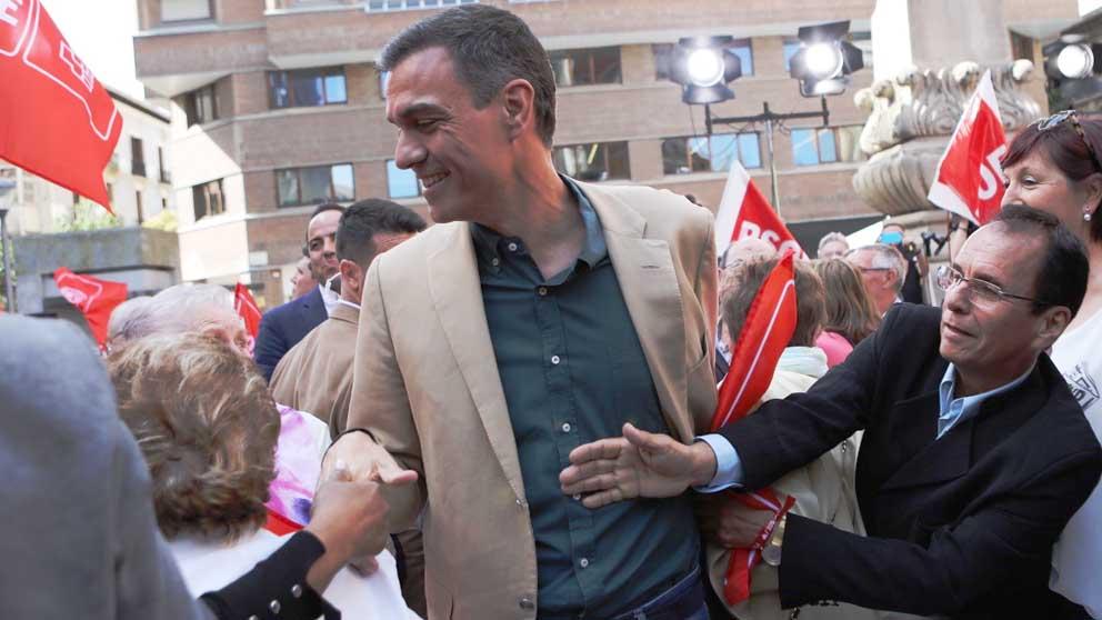Pedro Sánchez en Pamplona. Foto: Europa Press