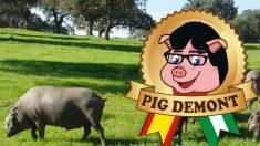 Imagen de la marca de embutidos Pigdemont, creada por el empresario Alberto González López.