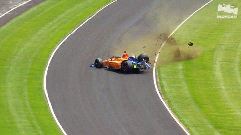 Fernando Alonso en las 500 millas de Indianápolis.