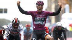 Ackermann se impuso en la quinta etapa del Giro. (AFP)
